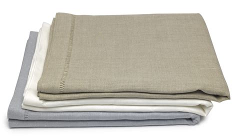 tablecloths uk linen tablecloths with ladder stitch edge 140x180cm at