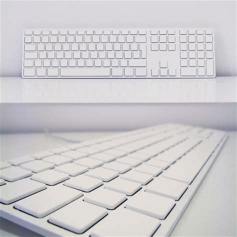 Keyboards Miimall all white apple keyboard for the touch typist craziest