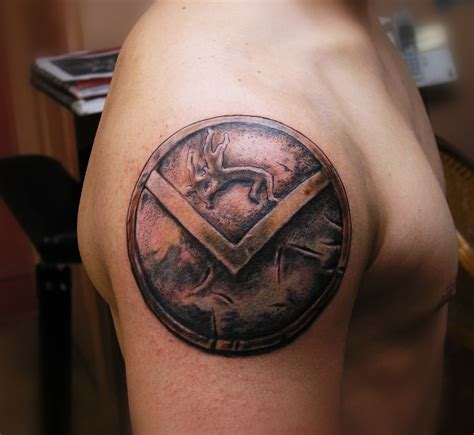 spartan shield tattoo tattoos design ideas pictures gallery