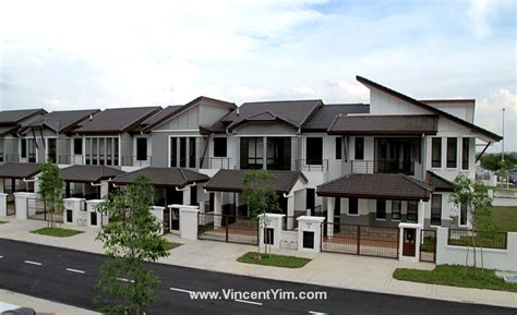 terraced house design bukit jelutong and denai alam free real estate information denai alam verdania
