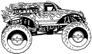 monster truck games colouring pages