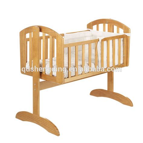 Nice Simple Design Wooden Baby Swing Bed Baby Cot Baby Swing Cribs Baby