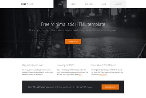 templates for website in html5 and css3 nina free html5 template html5xcss3