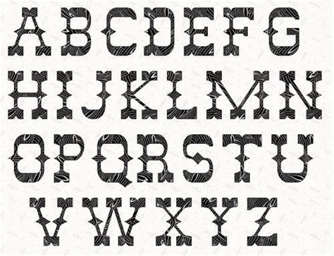 printable western letter stencils alphabet western 6 by linleys designs sewing pattern