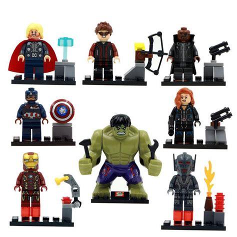 Promo 1 Set Marvel Avenger Heroes 8pcs Heroes Dlp9050 T 8pcs set china marvel assemble dc