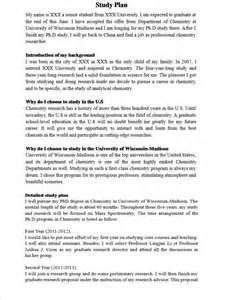 Study plan sample copy china schooling