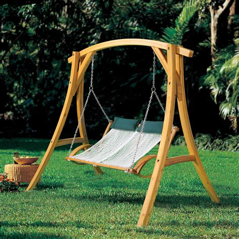 The Pawleys Island Hammock Swing Hammacher Schlemmer