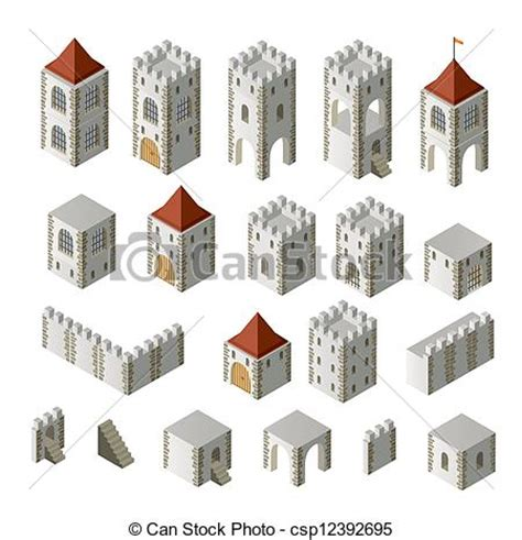 set houses drawings stock photo photo vector illustration stock illustration of medieval buildings a set of