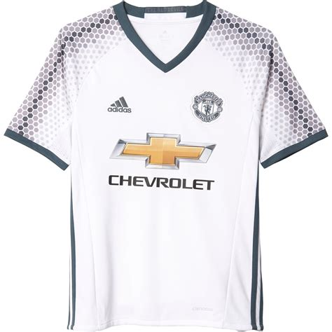 adidas manchester united 16 17 third jersey s white onix soccer center