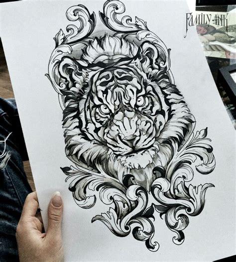 tattoo tiger tattoos ink on instagram tiger head tattoo sketch by family ink https instagram