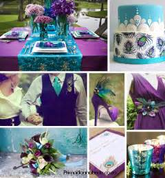 Here are a few examples of a peacock themed wedding