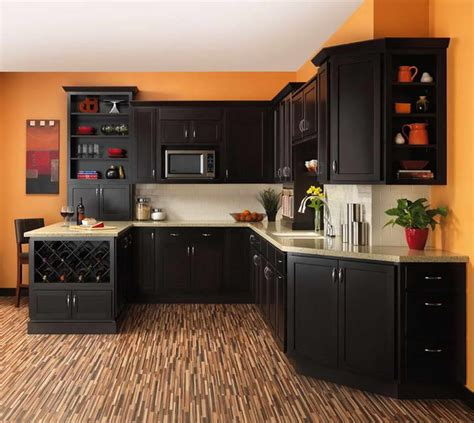 Kitchen Floor Cabinet Flooring Small Kitchen Floor Plans With Orange Wall The