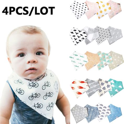 Infant Wrap 4pcs 4 4pcs lot baby bibs for boy burp cloths bandana bibs baby bandana infant waterproof dribble