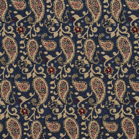 blue paisley upholstery fabric cream beige and navy blue scroll paisley upholstery fabric