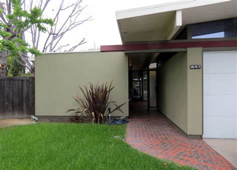 oc eichler midcentury exterior orange county by hallett
