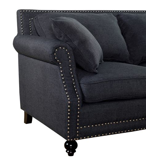 camden grey linen sofa camden grey linen sofa from tov tov 63802 3 grey