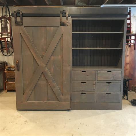 Barn Door Cabinet With One Door Furniture From The Barn Barn Door Furniture