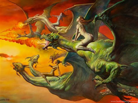 dragons fantasy art boris vallejo desktop background