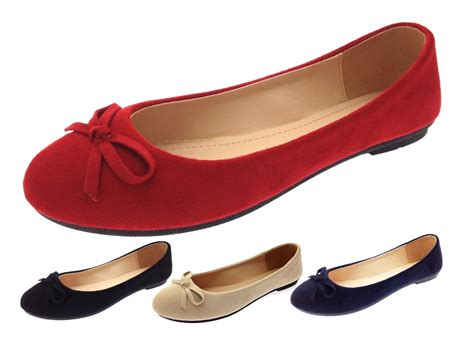 flat shoes for uk womens faux suede dolly ballet pumps flat casual loafers