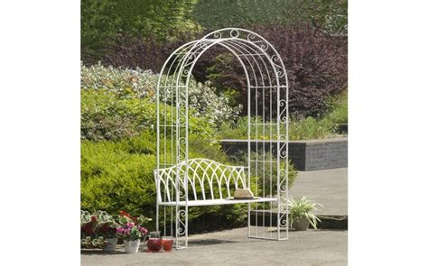 garden bench with arch lady morgan rose arch collection metal garden benches