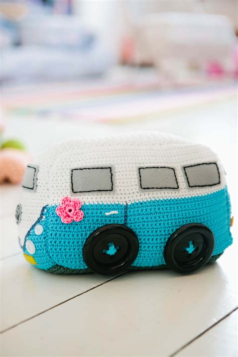 felt vw pattern cer van inside crochet
