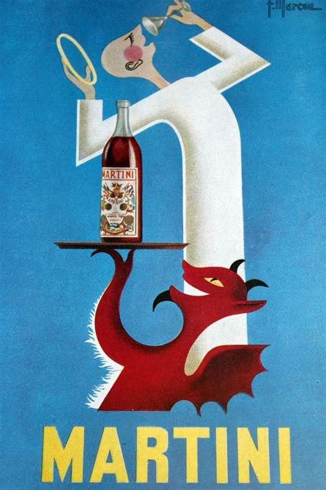 vintage martini illustration vintage advertising poster for martini vermouth 1953