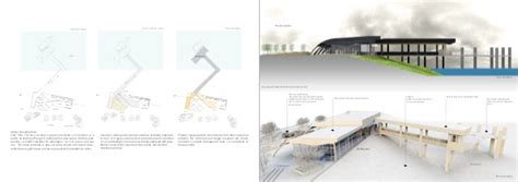 design concept for ferry terminal architecture and urban planning design
