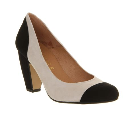 office slippers womens office finesse court black white suede heels size