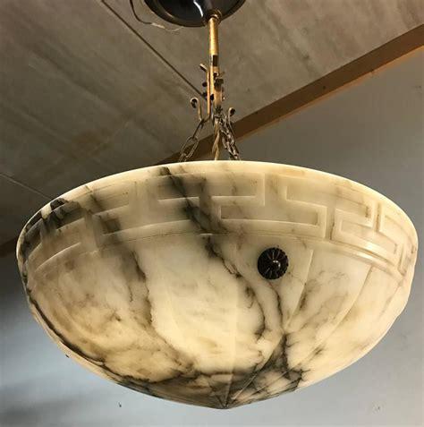 Alabaster Ceiling Lights Large Deco Neoclassical Alabaster Pendant Ceiling Light Fixture Great Shape At 1stdibs