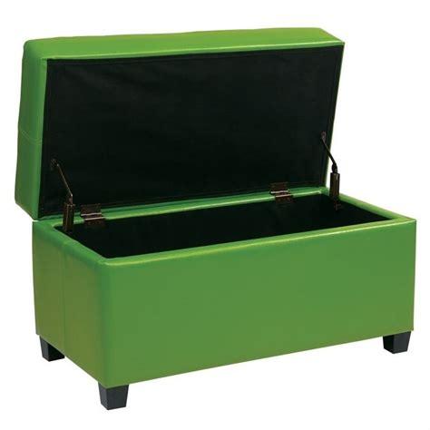 storage ottoman green vinyl storage ottoman in green met804v pb6