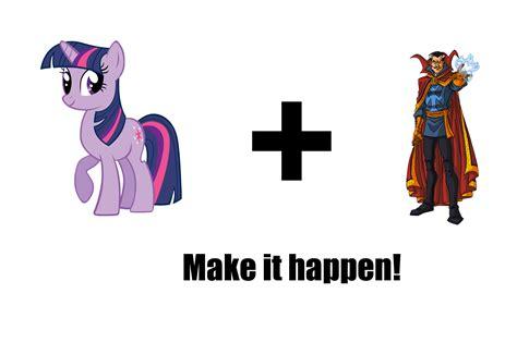 twilight sparkle doctor strange team    happen   pony friendship  magic