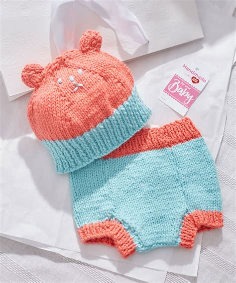 Baby Hat And Cover knit hat and cover free baby knitting pattern