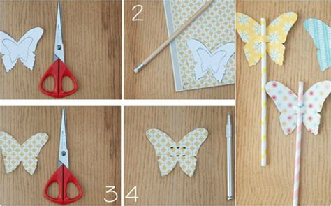 How To Make Paper Butterfly Decorations - how to make paper butterflies decorations straws