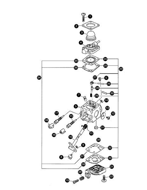 mantis tiller parts diagram carburetor c1u k82 diagram parts list for model 7222