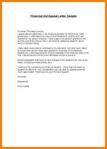 Financial Aid Cover Letter by 8 Financial Aid Reinstatement Appeal Letter Exle