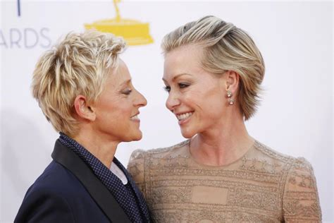 degeneres and portia de up portia de degeneres go makeup free for 10