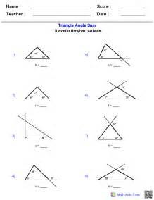 geometry worksheets triangle worksheets