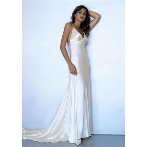 Wedding Hair Dress With Straps by Spaghetti Straps Floor Length Empire Waist Sheath Column