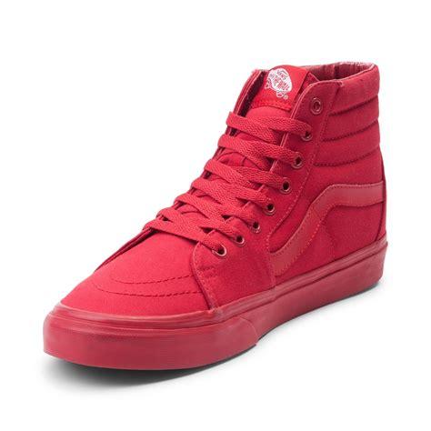 decke rot vans sk8 hi skate shoe 498866