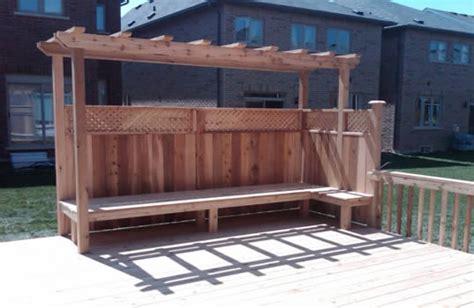 trellis with bench gallery alpine deck