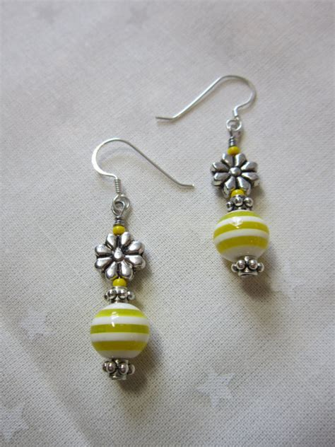 Handmade Beaded Earrings - handmade earrings beaded earrings dangling earrings