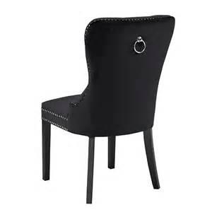 Black Velvet Dining Chairs Euphoria Black Velvet Dining Chair Xcella
