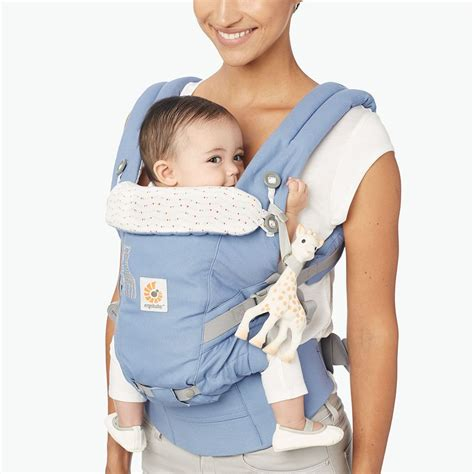 Ergo Baby Carrier 360 La Giraffe infant baby carrier blue la girafe ergobaby