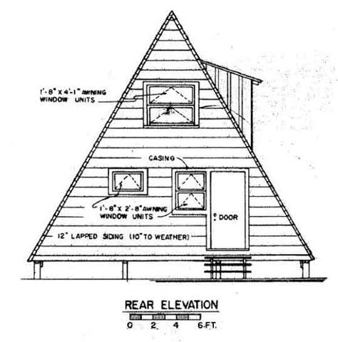 A Frame House Plan With Deck A Frame Building Plans Free