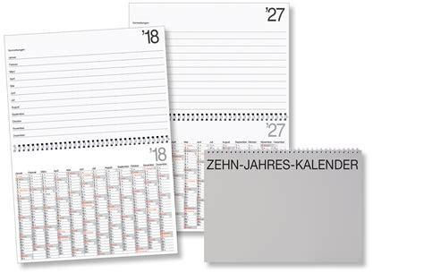 10 Jahres Kalender 10 Jahreskalender Zk Kalenderversand