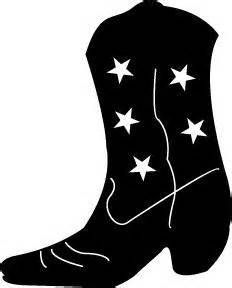 cowboy boots cowboys and silhouette on