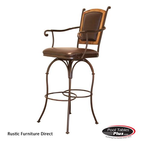 Rustic Iron Bar Stools by Rustic Swivel D91arm Barstool