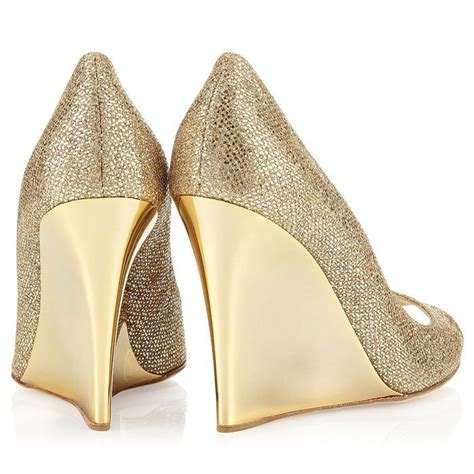 Gold Wedge Wedding Shoes by Jimmy Choo Gold Bello Wedges Wedding Shoes Highheel