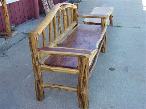cedar log bench by buckfever14 lumberjocks com natural cedar benches benches
