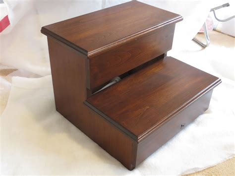 xl size step stool alder hardwood wood kitchen pantry